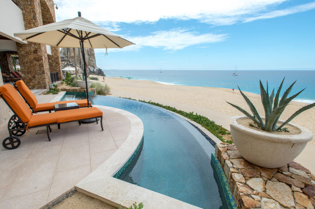 Private pool at the Three Bedroom Penthouse at the Grand Solmar Land's End Resort & Spa