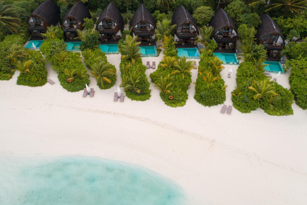 Aerial View of Kandolhu Maldives