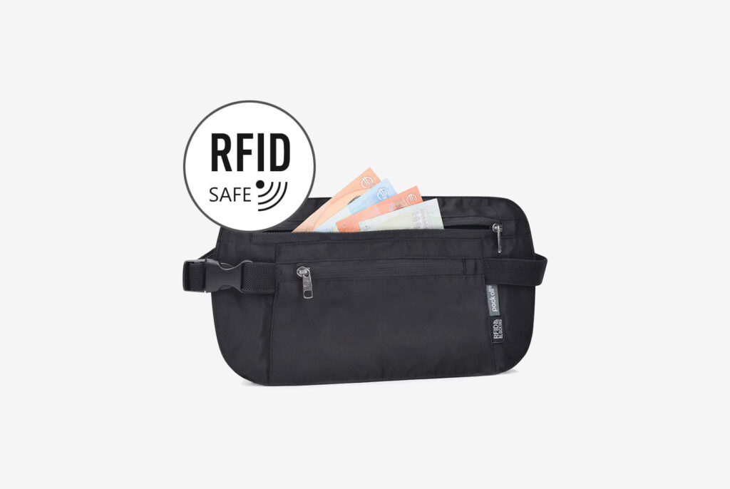 RFID-Blocking Travel Money Belt