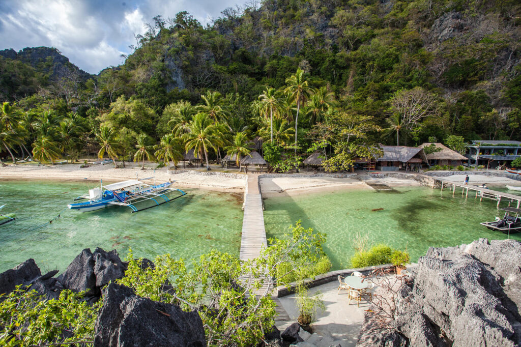 Beach at the Sangat Island Dive Resort