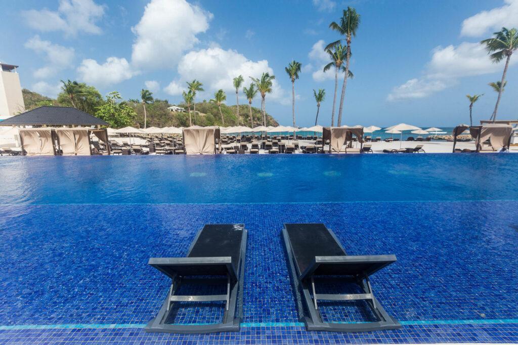 The Beachfront Pool at the Royalton Saint Lucia