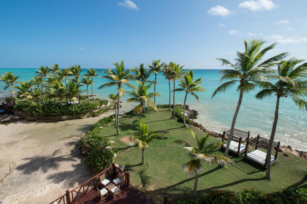 Beach View from the Castle Pool at the Sanctuary Cap Cana