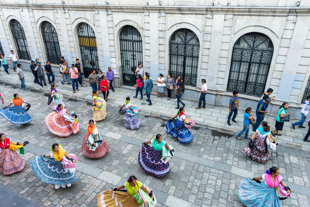 Folkloric parade in Oaxaca