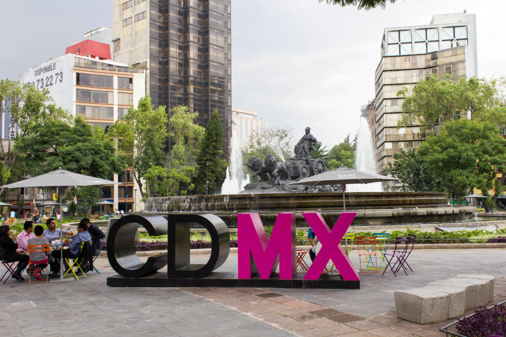 Mexico City sign, Fuente de las Cibeles
