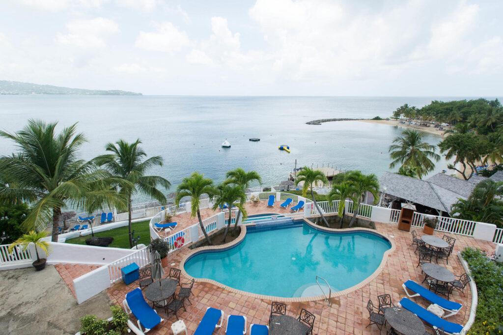 The Hibiscus Pool at the Windjammer Landing Villa Beach Resort