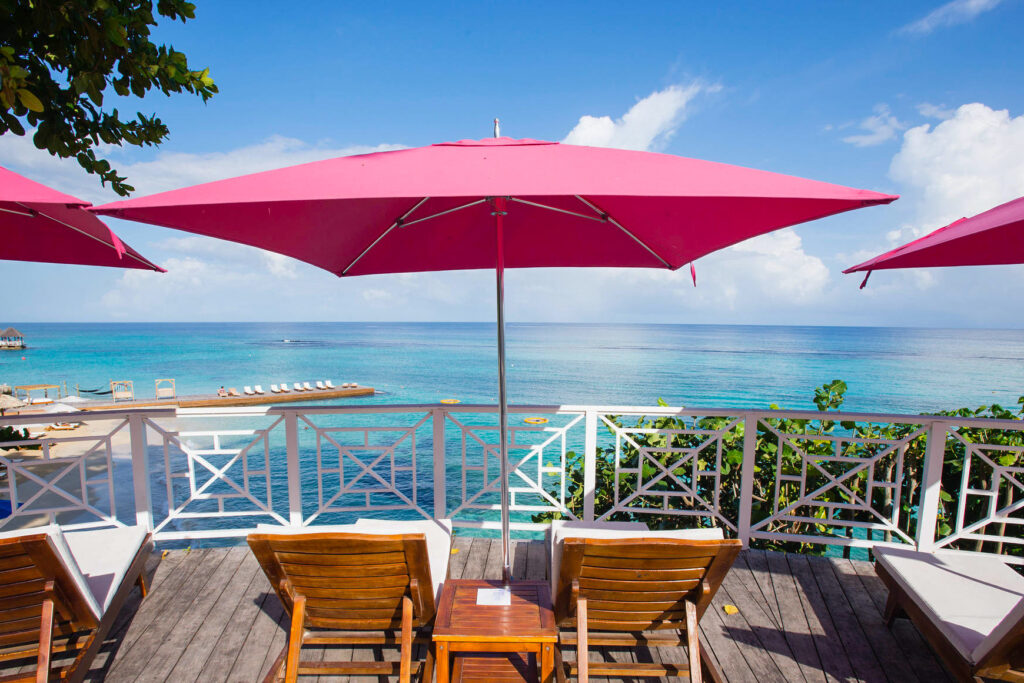 view of the ocean from Sandals Royal Plantation