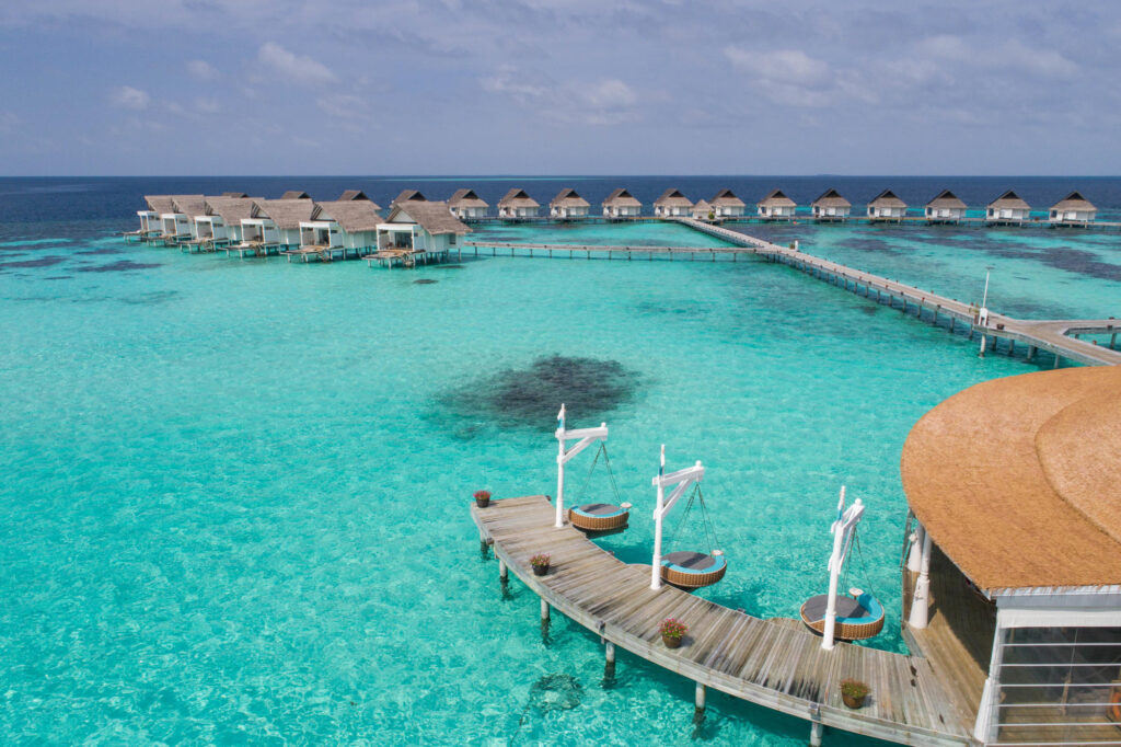 Aerial View of Centara Grand Island Resort & Spa Maldives