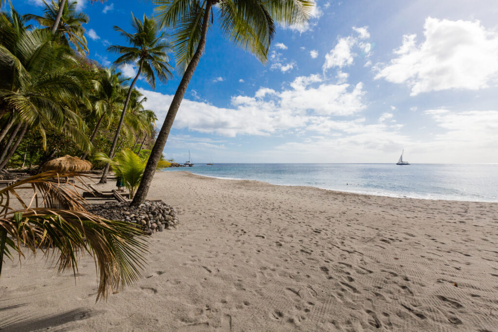 Beach at the Anse Chastanet Resort