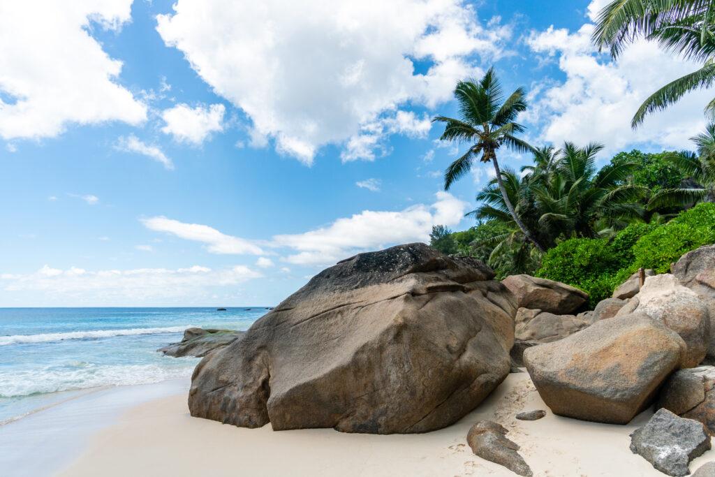 Anse Intendance beach at Banyan Tree