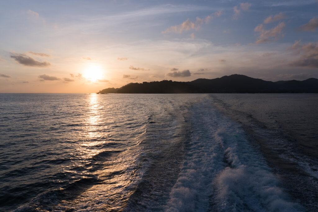 Ferry to La Digue from Praslin