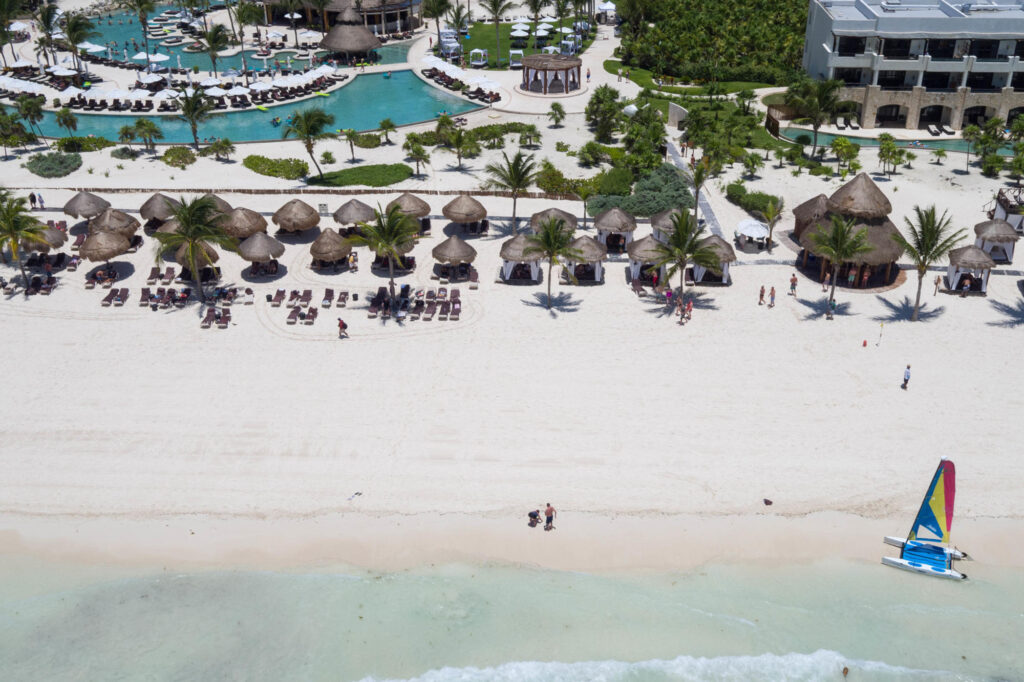 Aerial Photography at the Secrets Maroma Beach Riviera Cancun