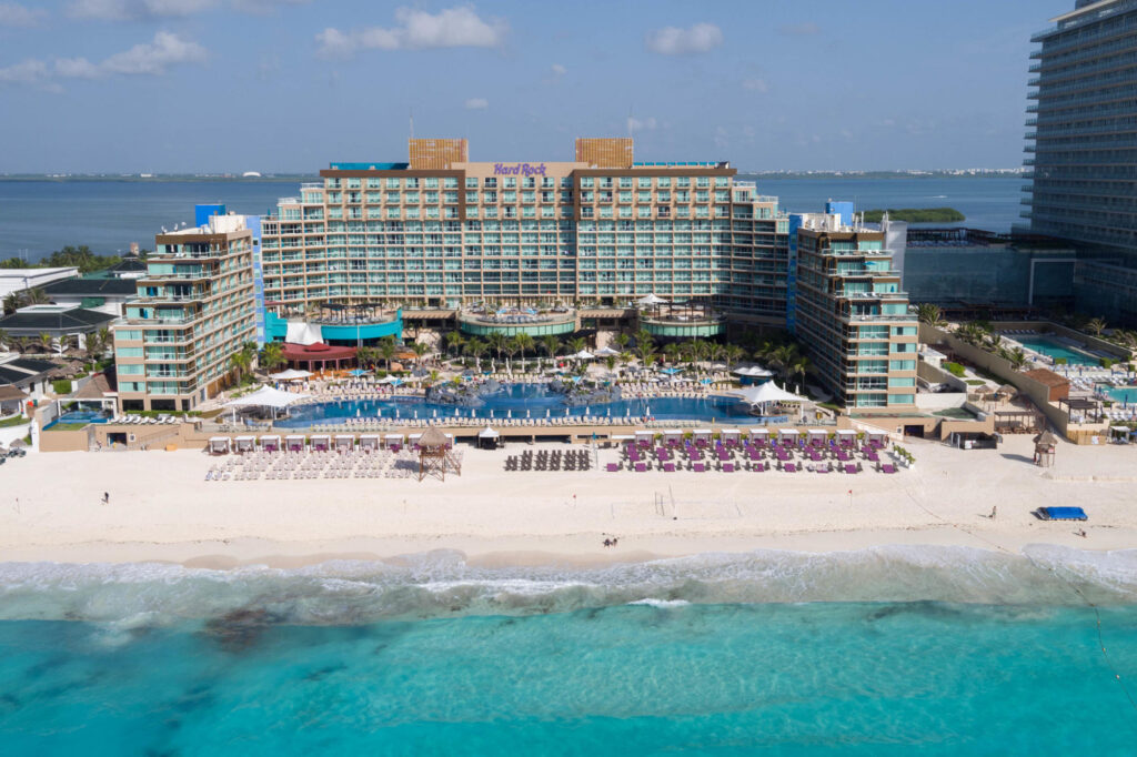 Aerial Photography at the Hard Rock Hotel Cancun