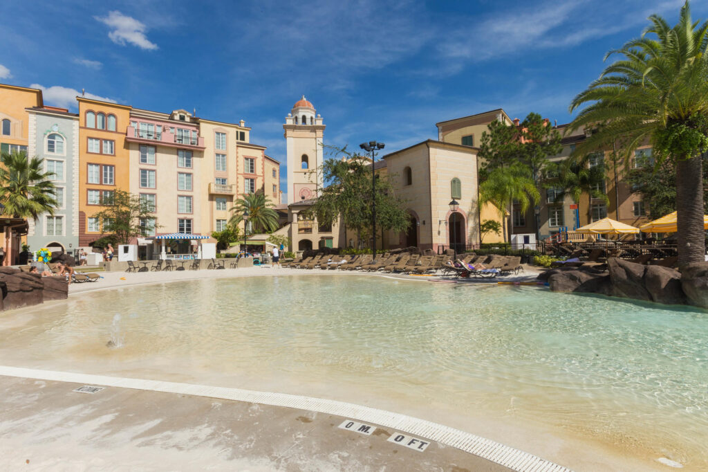 The Beach Pool at the Loews Portofino Bay Hotel at Universal Orlando