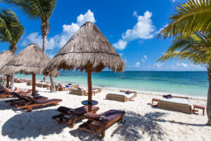 Beach at the Excellence Playa Mujeres