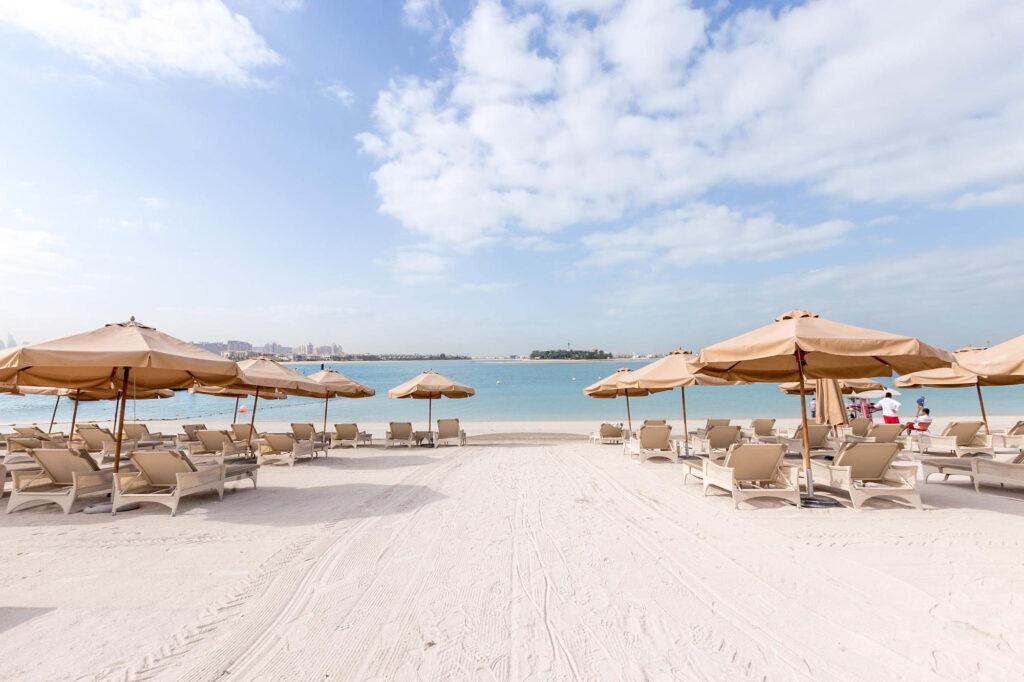 Beach at the Waldorf Astoria Dubai Palm Jumeirah