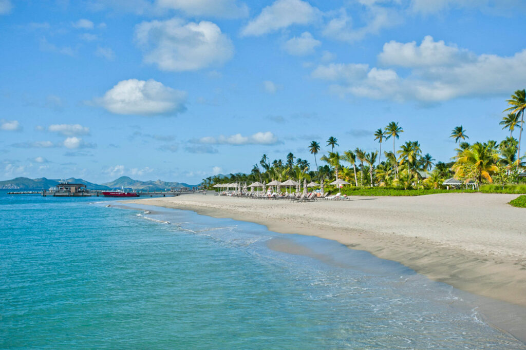 Beach at the Four Seasons Resort Nevis