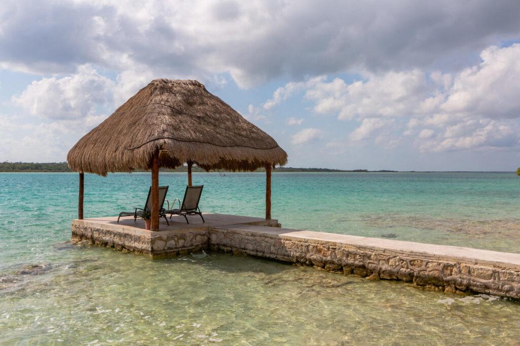 Beach at the Bacalar Lagoon Resort