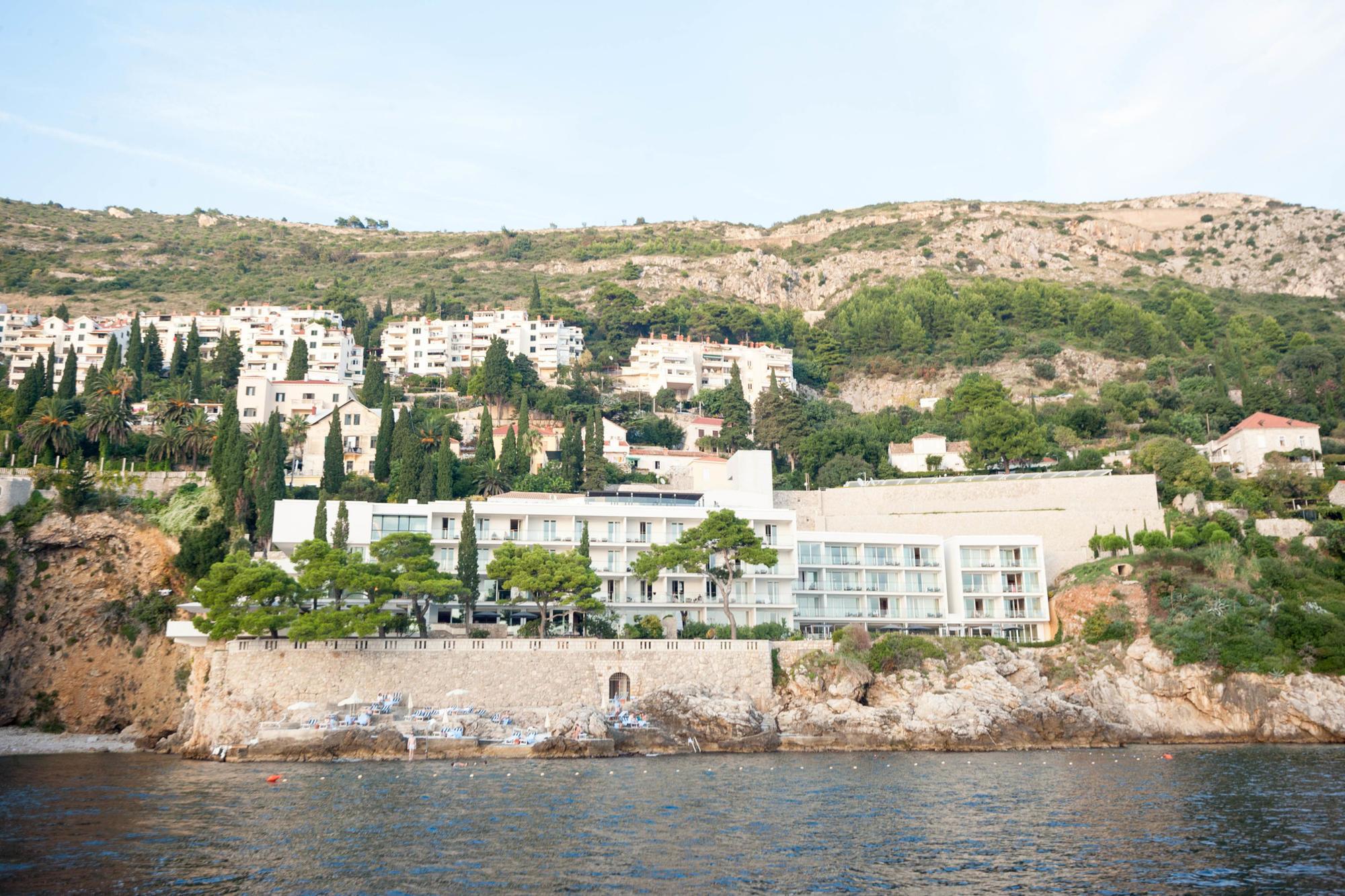 Coast and view of Villa Dubrovnik
