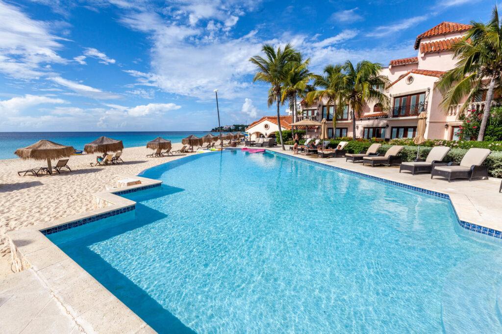 The Infinity Pool at the Frangipani Beach Resort