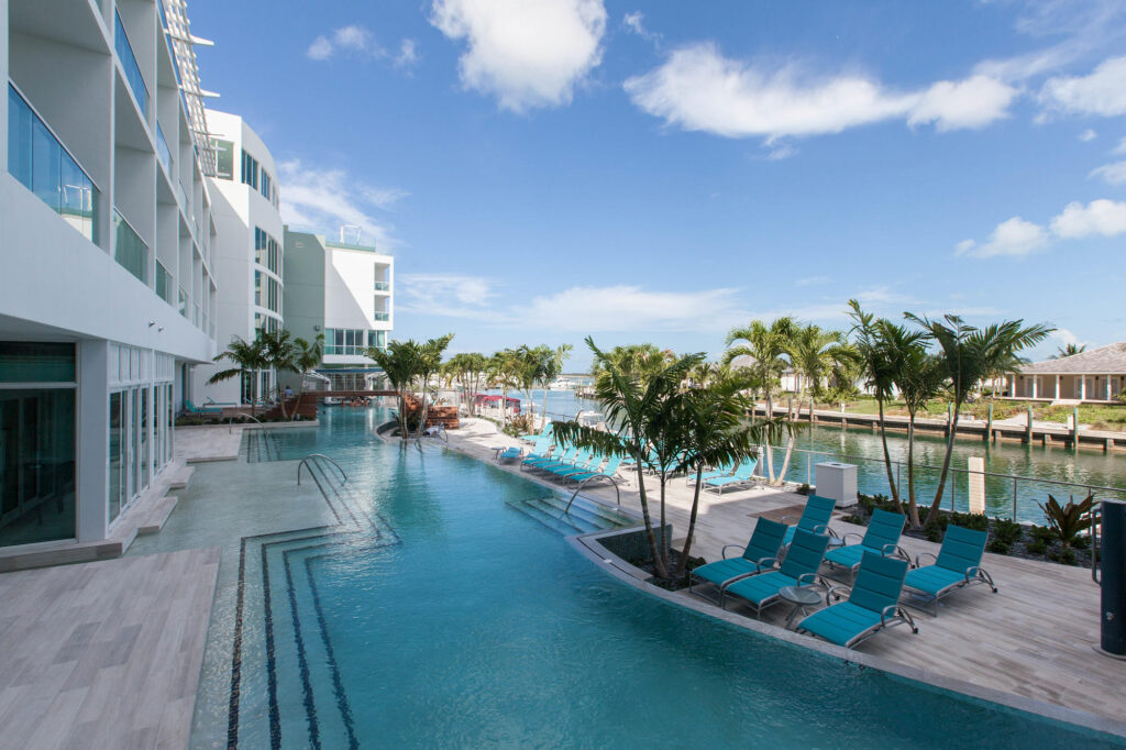 The Lazy River Pool at the Hilton At Resorts World Bimini
