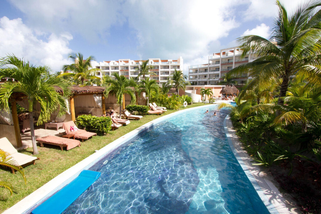 The Lazy River Pool at the Excellence Playa Mujeres