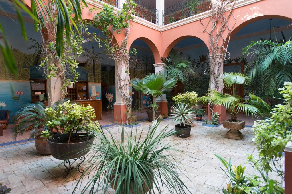 Lobby at the Hotel Casa San Angel