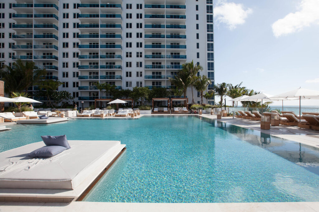 The Main Pool at the 1 Hotel South Beach