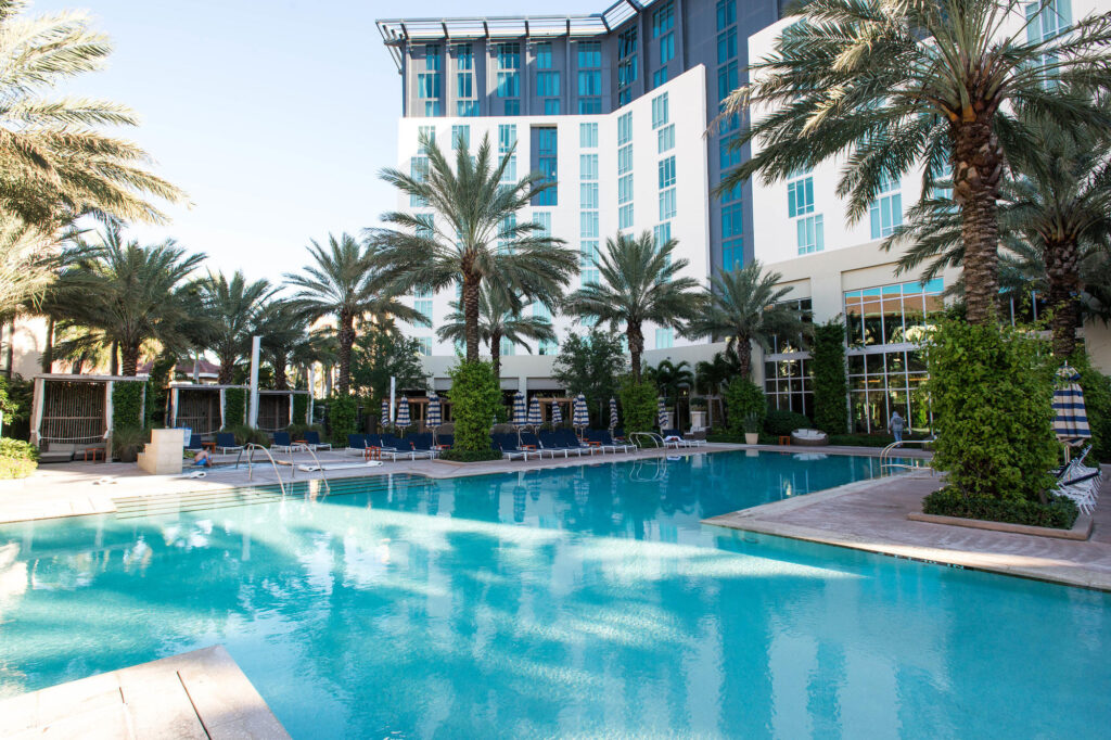The Pool at the Hilton West Palm Beach