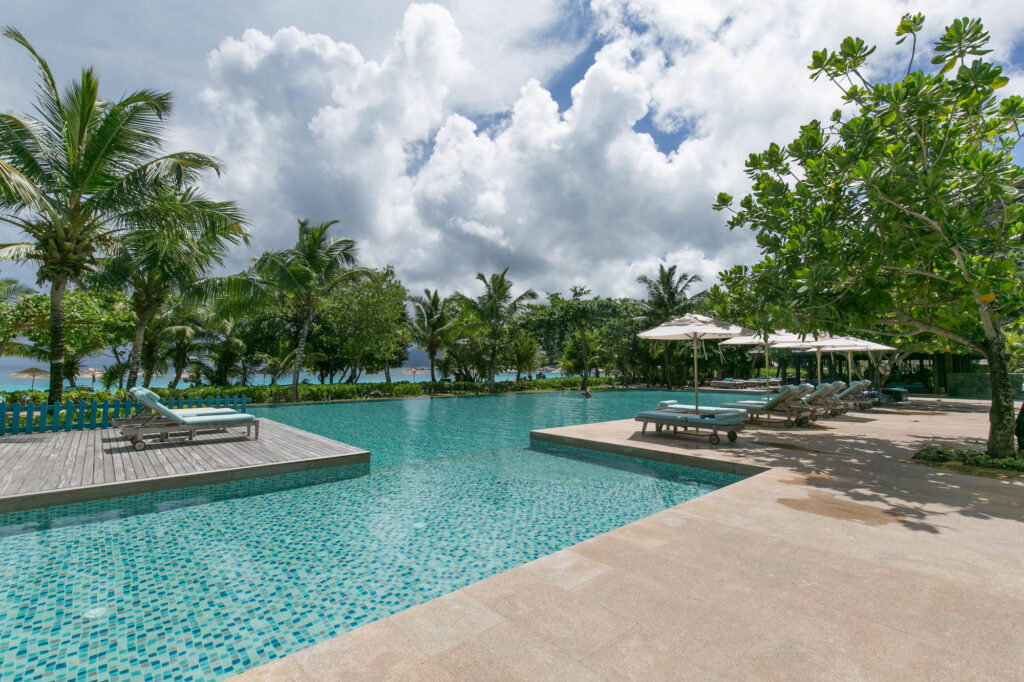 The Pool at the Four Seasons Resort Seychelles