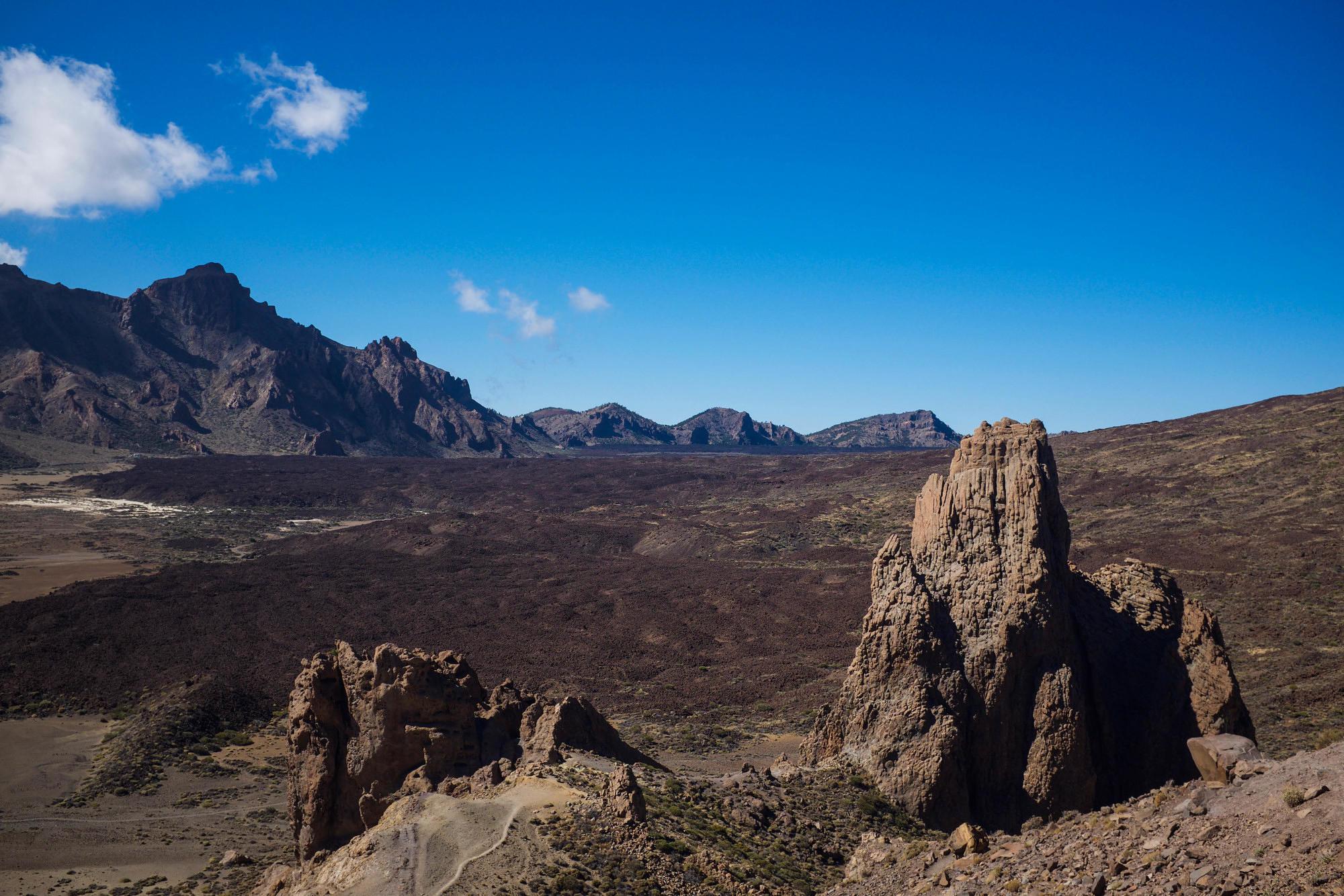 Mountain views at the Cañadas del Teide National Park in Tenerife