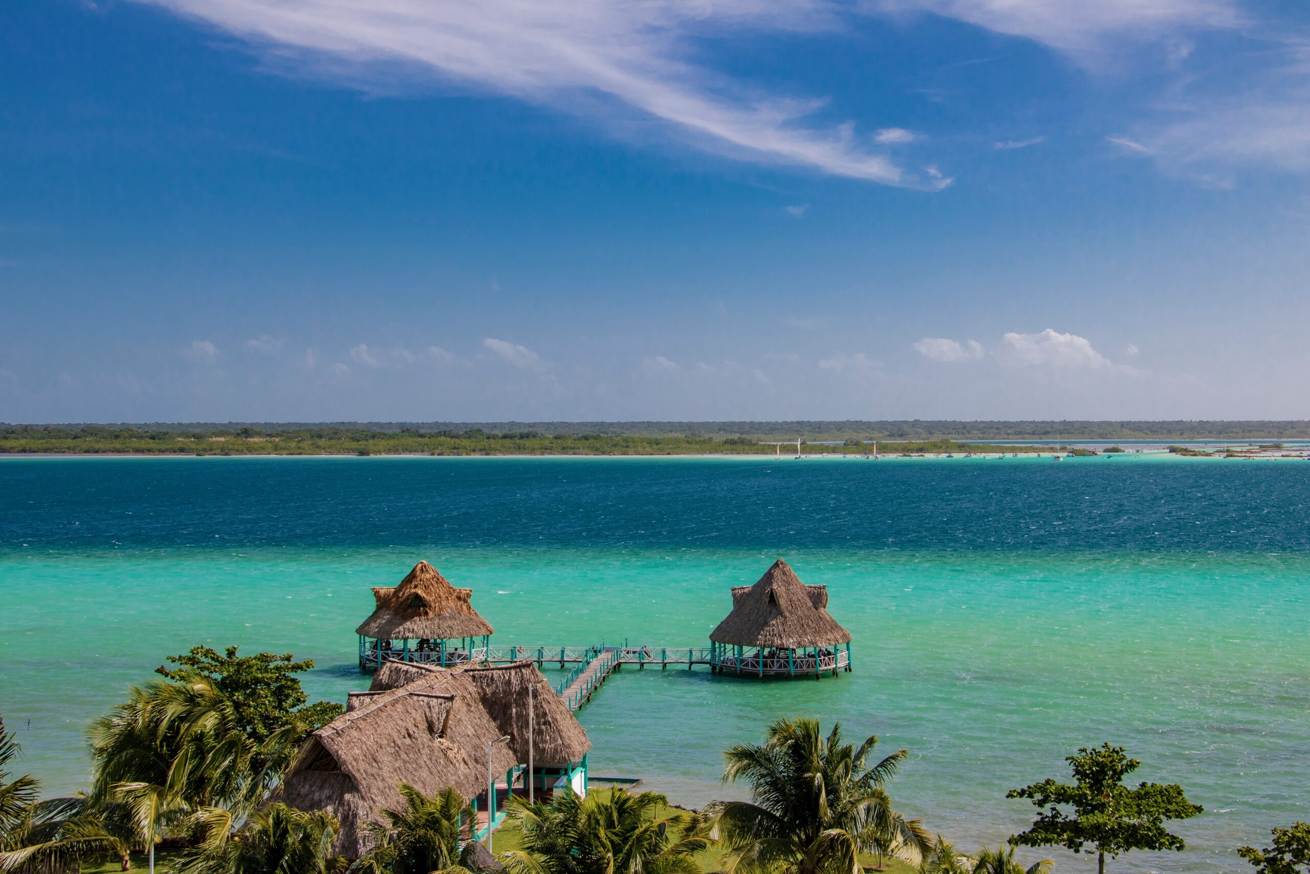 The Lake of Seven Colors in Bacalar, Mexico