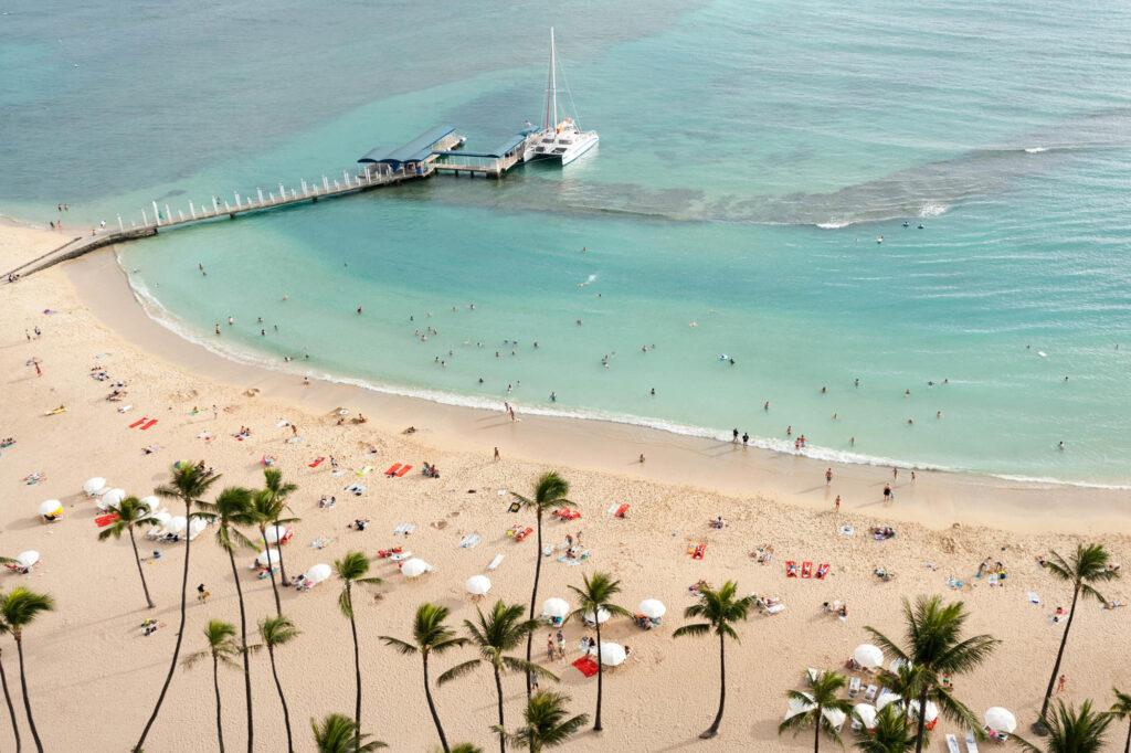 Beach at the Hilton Hawaiian Village Waikiki Beach Resort