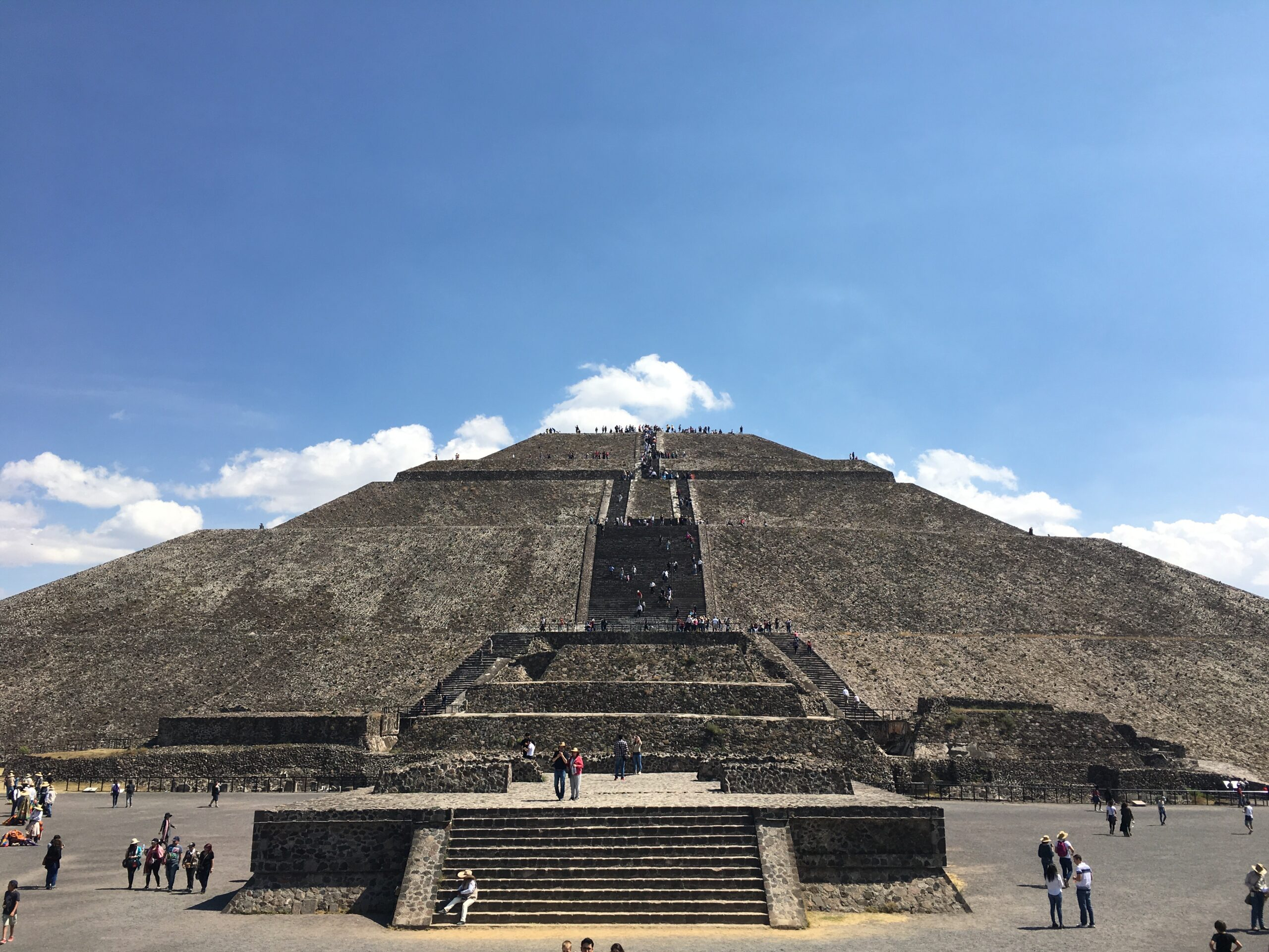 Pyramid of the Sun at Teotihuacan, north of Mexico City