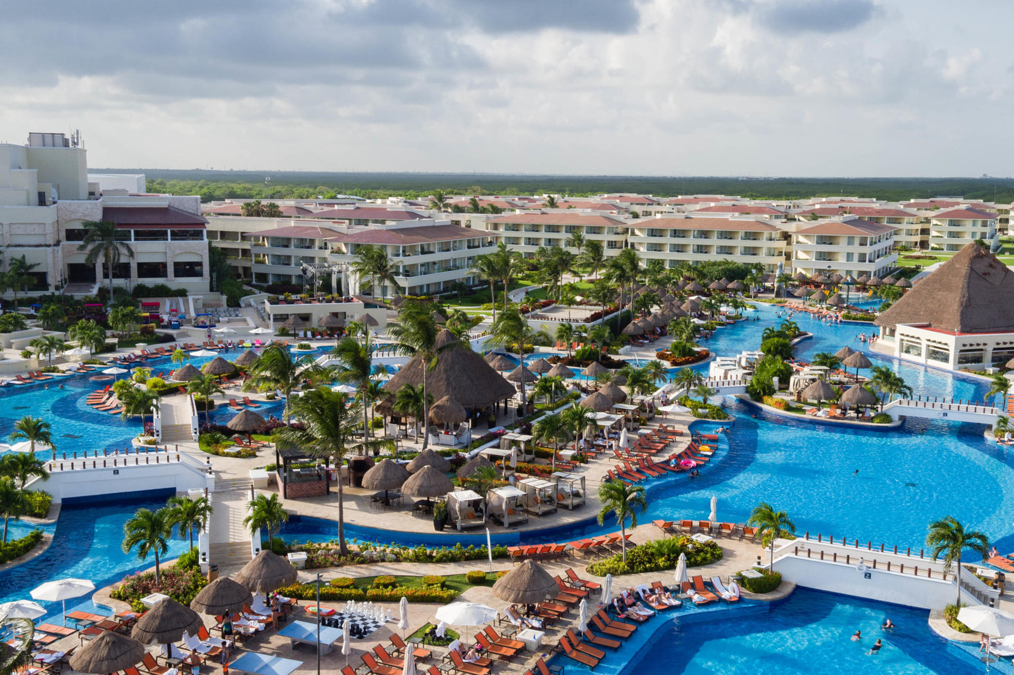 The main pool at the Moon Palace Cancun in the Sunrise section