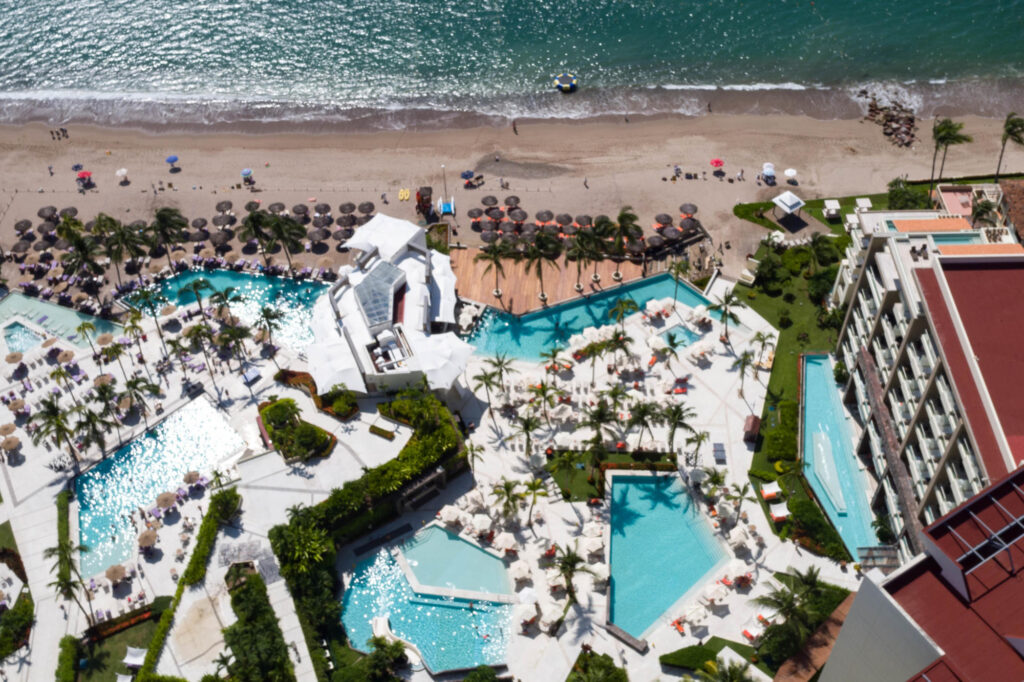 Aerial Photography at the Secrets Vallarta Bay