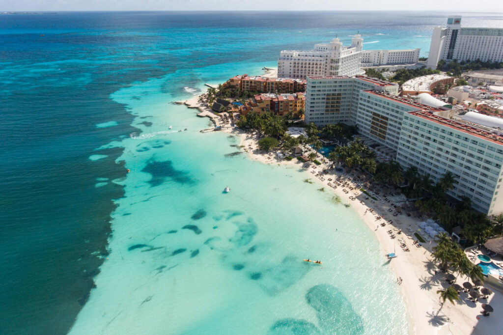 Aerial Photography at the Presidente InterContinental Cancun Resort