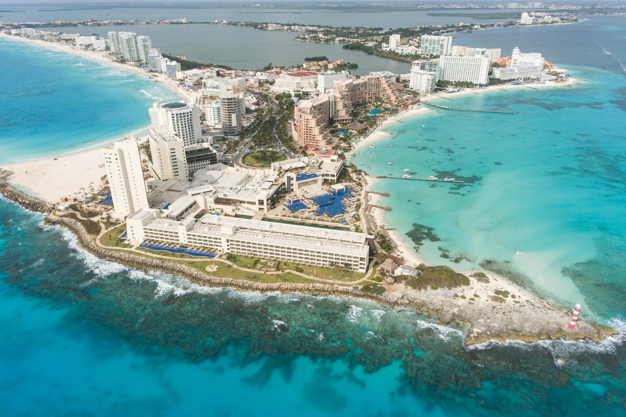 The beaches and grounds at Hyatt Ziva Cancun