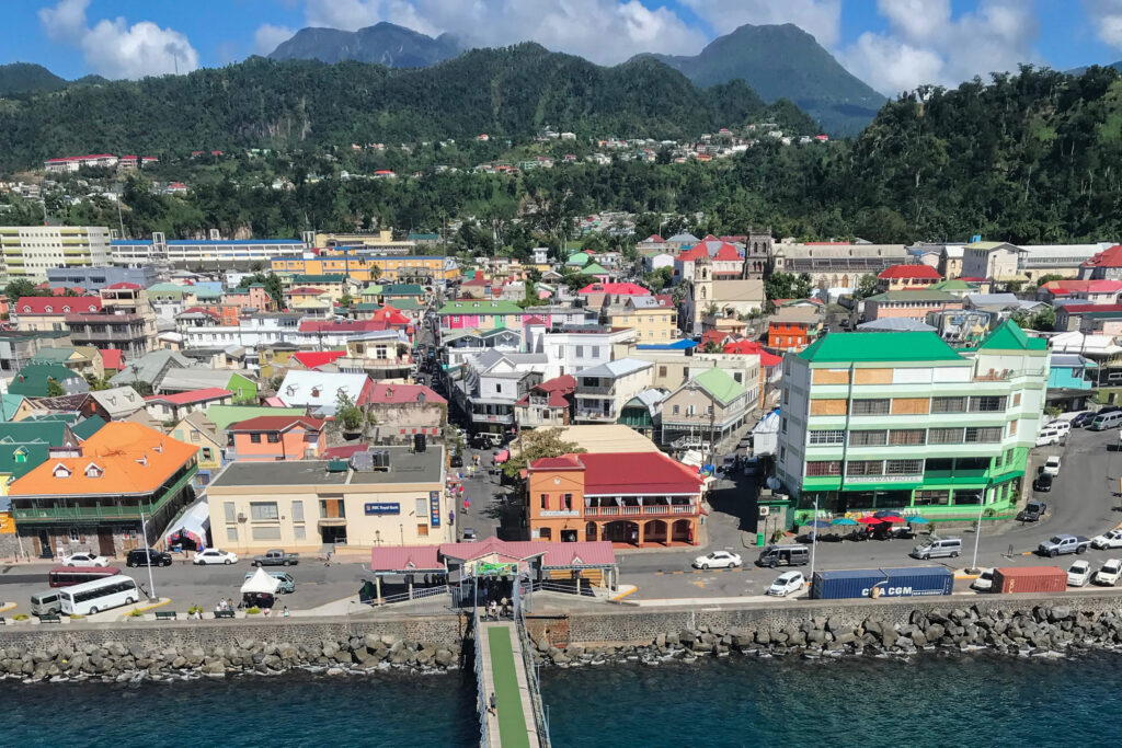 Pier to Dominica Island