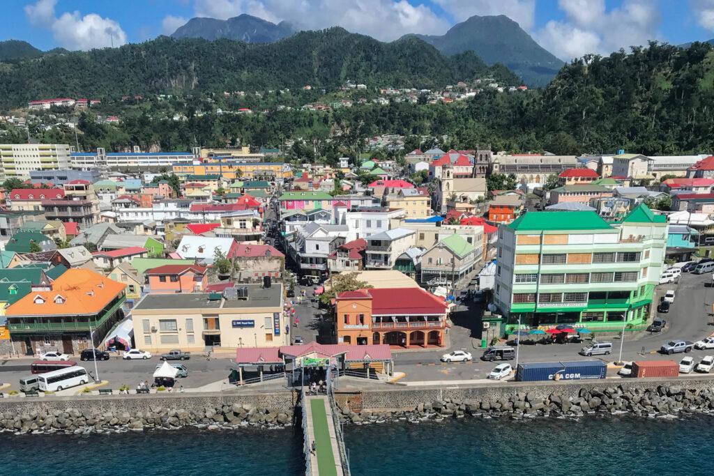 Pier to Dominica Island