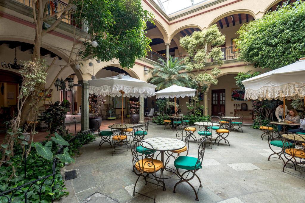 Atrium courtyard at the Hotel CasAntica