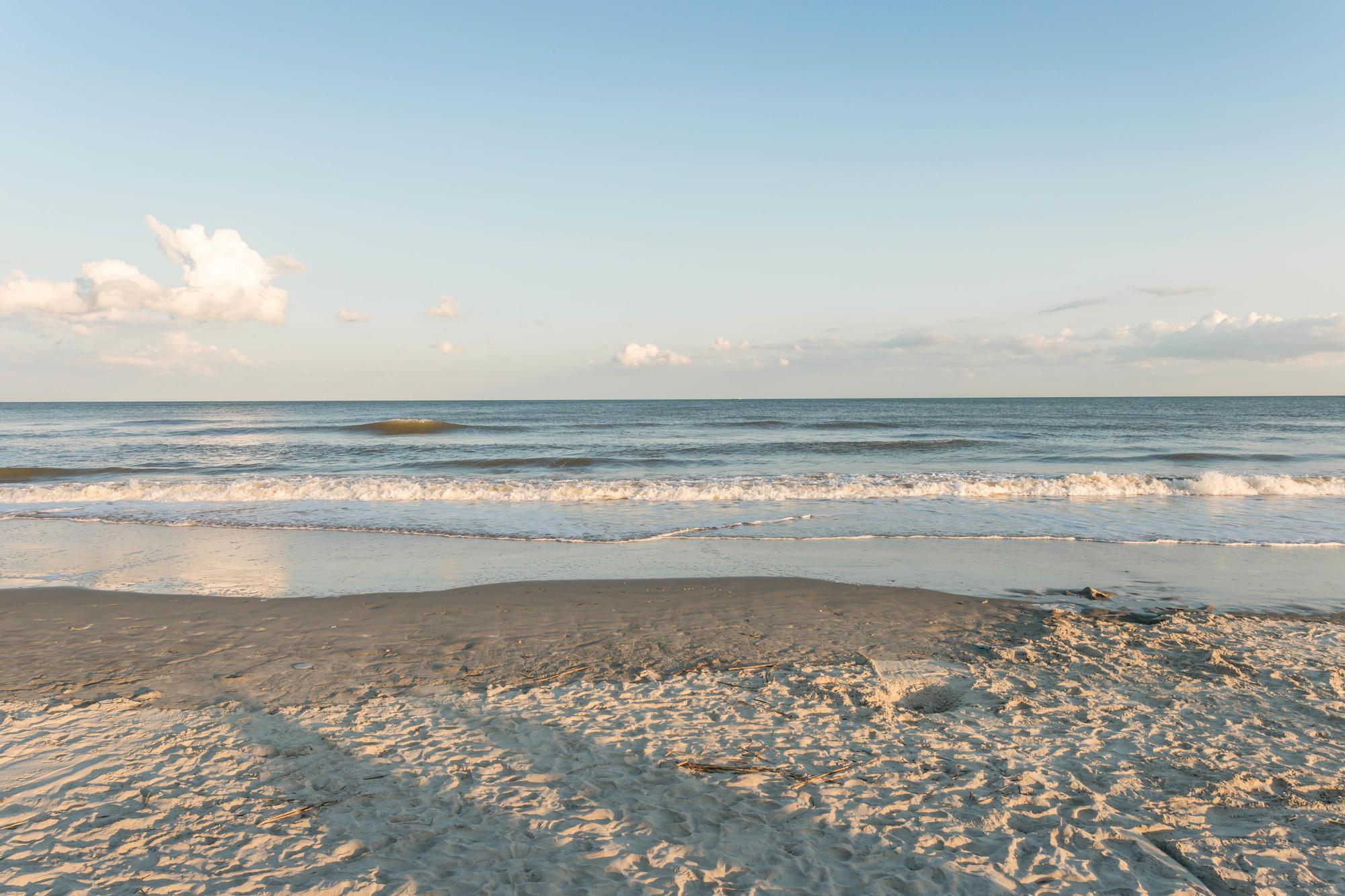 The beach outside of Charleston, South Carolina