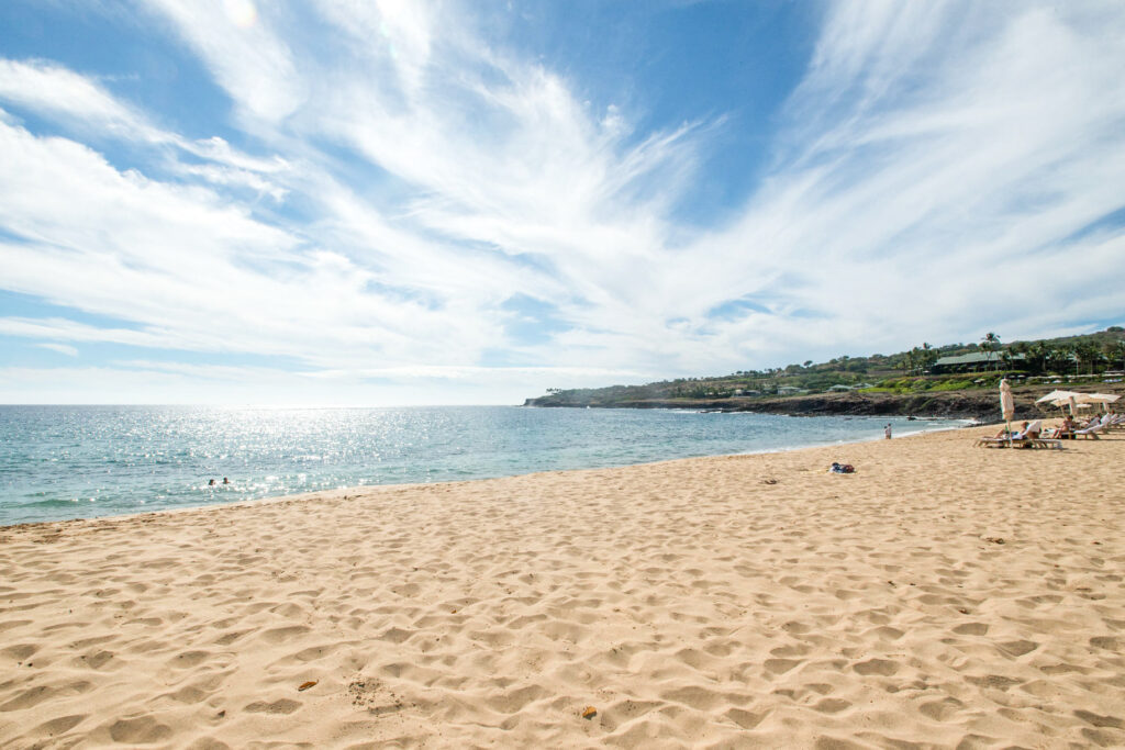 Beach at the Four Seasons Resort Lanai