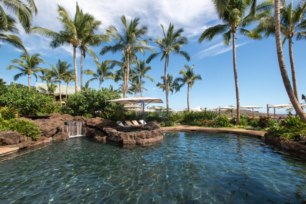 The Central Pool at the Four Seasons Resort Lanai