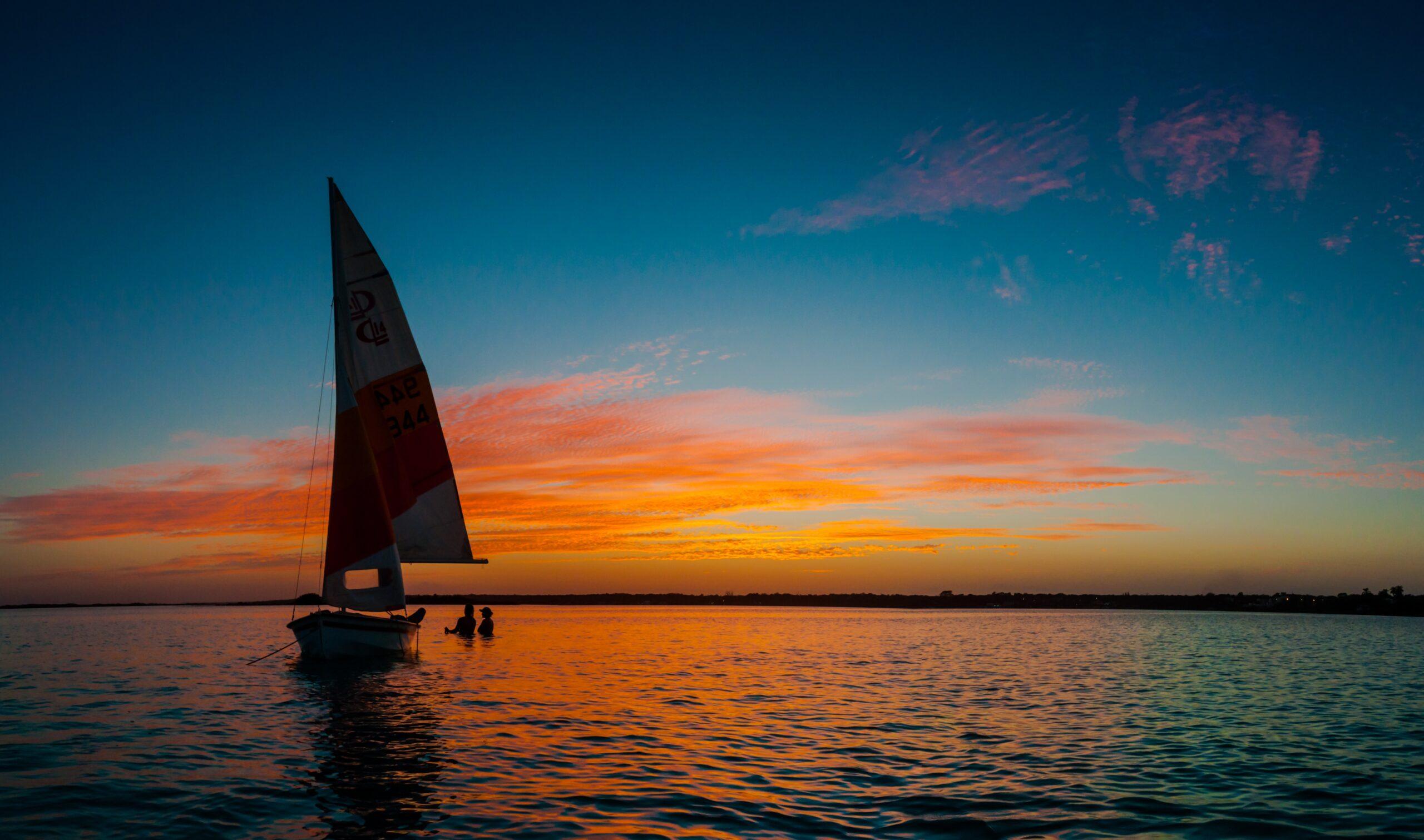 Sunset on Laguna Bacalar