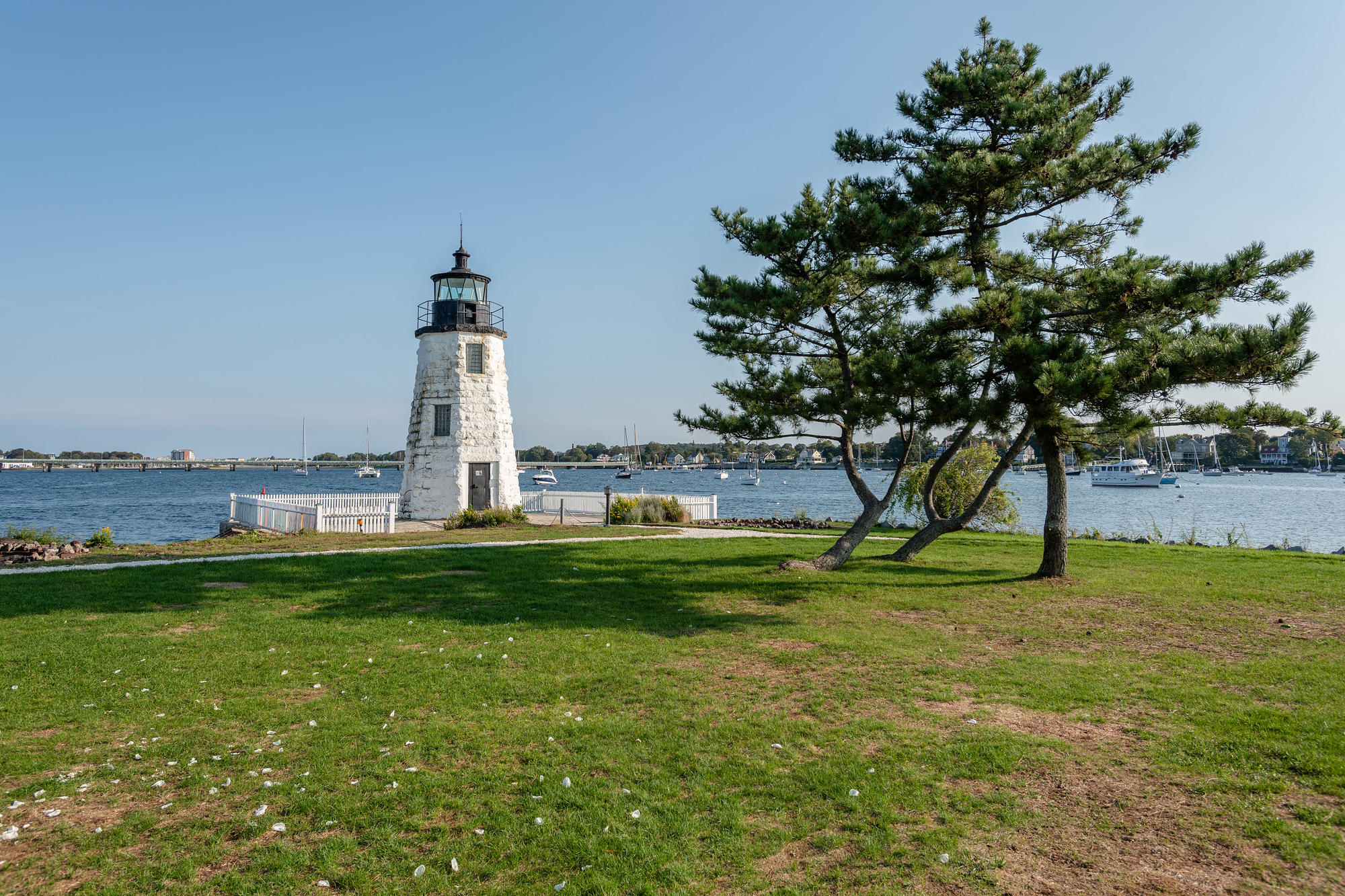 The coast and harbor of Newport, Rhode Island