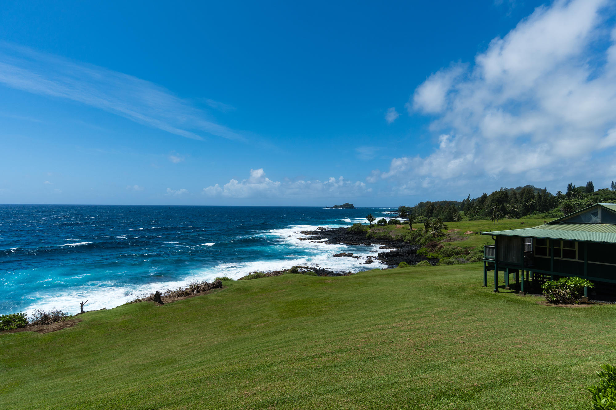 The grounds and oceanfront at Travaasa Hana, Maui