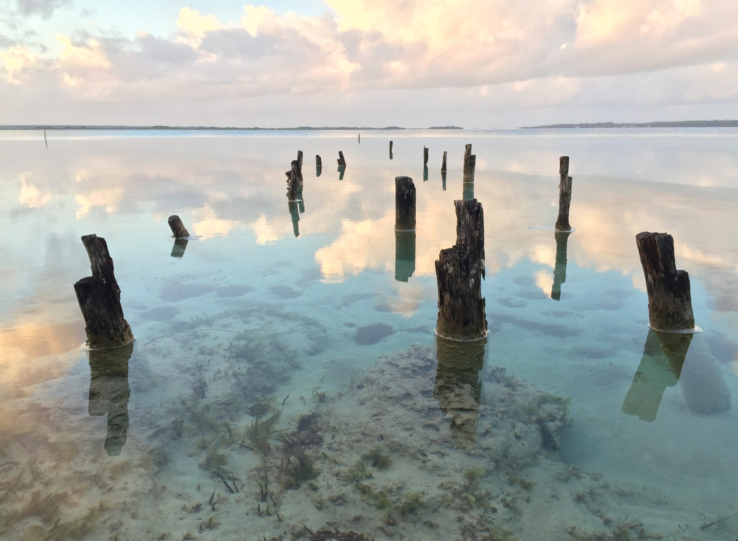 Lake of Seven Colors in Bacalar, Mexico