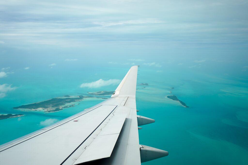 Flying over Exuma, The Bahamas