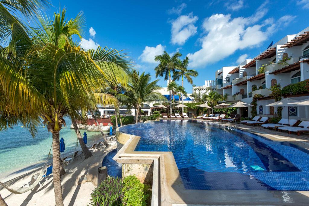 The Main Pool at the Zoetry Villa Rolandi Isla Mujeres Cancun