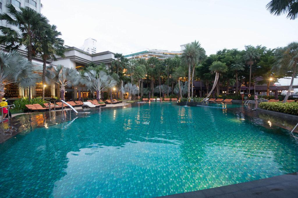 The Main Pool at the Shangri-La Hotel, Bangkok